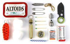 Real men survive by Altoids.   But actually, this Altoid survival kit is so dope!