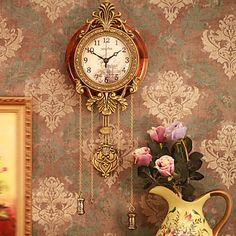32 estilo retro relógio de parede do vintage com pêndulo - BRL R$ 95,00