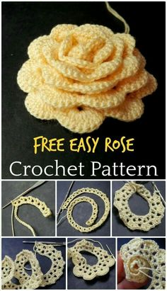 Crochet flowers 90 free crochet flower patterns page 18 of 18 diy crafts Crochet Flowers - FREE Crochet Flower Patterns - Page 18 of 18 - DIY & Crafts We have showcased here Crochet Flowers with Free crochet flower PatternsEasy Crochet Rose Flower Free Pa Blog Crochet, Diy Crafts Crochet, Crochet Gratis, Crochet Projects, Sewing Crafts, Simply Crochet, Diy Projects, Crochet Puff Flower, Crochet Flower Tutorial