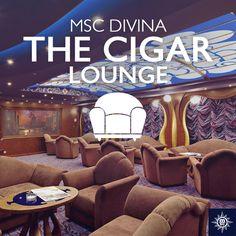 Geniet van het moment in de exclusieve Cigar Lounge aan boord. #MSCDivina