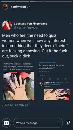 """For a long time I was made fun of for crying at movies or liking marvel or other things for """"boys"""" I was called a fake fan because of being a girl and that's bullshit Dc Memes, Intersectional Feminism, We Are The World, The More You Know, Patriarchy, Faith In Humanity, Social Justice, Real Talk, Equality"""