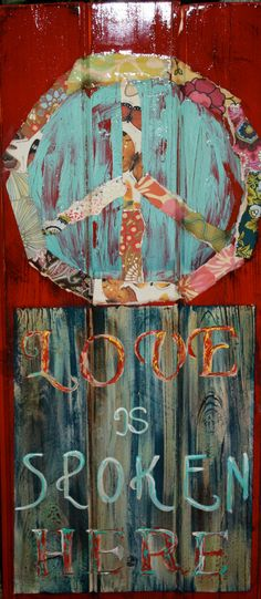 Peace and Love by artbylorilynn on Etsy, $395.00
