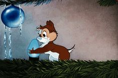 Chip and Dale Animated Gifs Gallery and Chip and Dale are a pair of chipmunks or squirrels created by Walt Disney Disney Vintage, Retro Disney, Disney Love, Walt Disney, Disney Magic, Christmas Scenes, Disney Christmas, Christmas Movies, Christmas Christmas