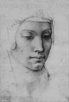 Head of a Woman - Michelangelo Buonarroti.