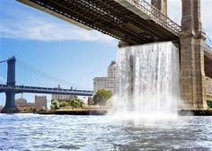 four 'giant' waterfalls will be created in New York this summer as part of a public art project designed by Danish artist Olafur Eliasson