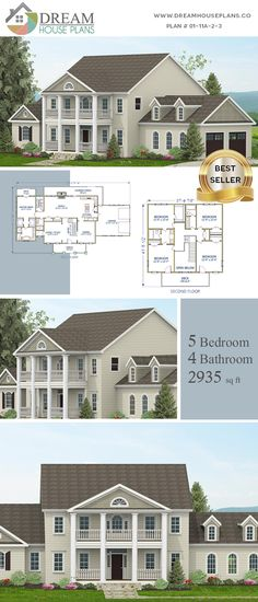 house plan with . - House Plans, Home Plan Designs, Floor Plans and Blueprints Open Floor House Plans, Porch House Plans, Simple House Plans, Basement House Plans, Southern House Plans, Craftsman House Plans, New House Plans, Dream House Plans, Southern Homes