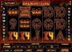 Breath of Fire Slots - The top line-win for this 20 payline video slot machine online from iSoftBet is 50,000.00 and it can be won on a single line. Of course betting all twenty lines will give you more chances to line up five volcanoes, or dragon lairs. Dragons have been the......