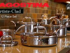 Lagostina Hand Hammered Cookware Set, 12-pc | Canadian Tire