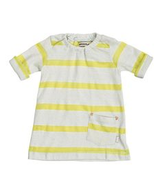Yellow Stripe Dress - Infant & Toddler by imps