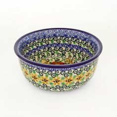 """A U-4 """"Unikat"""" bowl that has all the elements of Jolanta Okraska's pieces. I had her do each of these designs at the same time so that they match each other as close as humanly possible. So a great wa"""