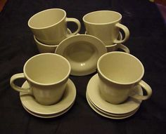 DINERA Coffee Cup and Saucer Beige 6-pack