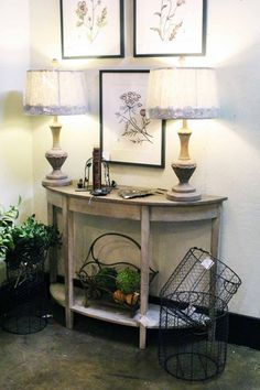 antique foyer table