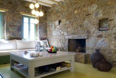 margaritas house serifos Decor, Living Room Designs, House, Room, Home Decor, Places, Fireplace