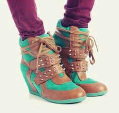 Green and tan wedges with spikes!