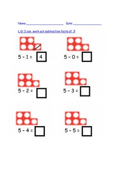 Visual take away using numicon pictures by auregbula - Teaching ...
