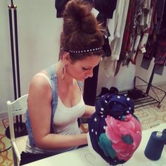 Giornata di realizzazione nuovi turbanti concentrazione!!! :-) :-)