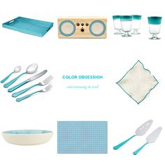 Color Obsession: Entertaining in Teal — Showerbelle | Host a Happy Bridal Shower