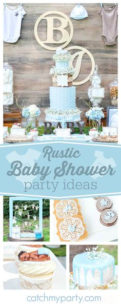 You don't want to miss this gorgeous rustic Baby Shower! The decorations and table settings are beautiful!! See more party ideas and share yours at CatchMyParty.com