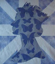 Queen butterfly stencil 64
