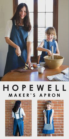 the cutest matching aprons from hopewell workshop www.hopewellworkshop.com