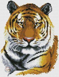 Вышивка крестиком. Тигр.