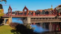 The Old Town Bridge has become a symbol of Trondheim and connects the city centre with the  Bakklandet neighbourhood. - Photo: Sven-Erik Kno...