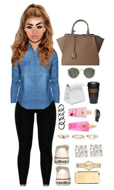 06 June, 2015 by jamilah-rochon on Polyvore featuring polyvore, fashion, style, New Look, Converse, Fendi, Warehouse, Anita Ko, Movado, Dogeared, Ray-Ban, GUESS, Victoria's Secret and KeepCup
