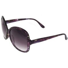 Sunglasses with Translucent Flower Printed Frames In Purple GirlPROPS. $6.99