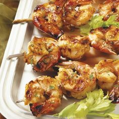 Sweet and Spicy Shrimp Kabobs.  I added pieces of onion, will double my sauce next time.  Good shrimp ....Very good and easy.Will make again.