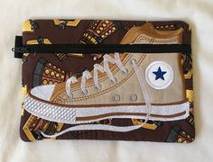 High Top Gym Boot Zipper Pouch with Dalek and Dr Who theme Cotton Quilting Fabric, Cotton Quilts, High Shoes, Dalek, Bag Patterns, First Aid Kit, Applique Designs, Zipper Pouch, School Bags