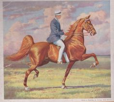 American Saddlebred stallion King's Genius in a George Ford Morris painting.