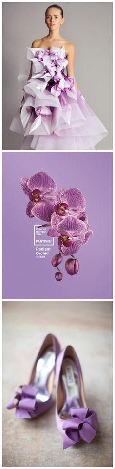 """Será que o rosa, a segunda cor das noivas, vai ser destronada pela """"Radiant Orchid""""? O que você acha?"""