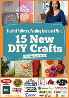 Crochet Patterns, Painting Ideas, and More: 15 New DIY Crafts Free eBook! Celebrating the #newDIYcrafts with new & full patterns! Get your free copy today!