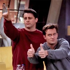 Joey and Chandler #Friends #TV show