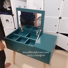 Vanity Table Set, Clever, Table Settings, Decorative Boxes, Makeup, Bedroom, Make Up, Vanity Set, Place Settings