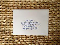 Calligraphy for Wedding Invitations Hand Lettered Envelopes ...