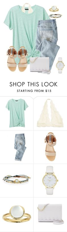 """""""I'm gonna go met skai Jackson!!!!!"""" by christyaphan ❤ liked on Polyvore featuring Banana Republic, Wrap, Steve Madden, Tai, Kate Spade, Alexis Bittar and Apt. 9"""