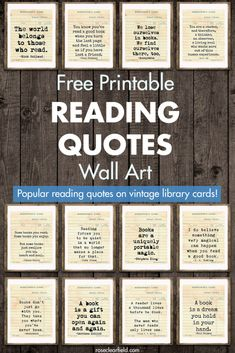 Free Printable Reading Quotes Wall Art