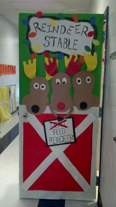 School classroom door. I think this may be Kim, Tesha, and Choya
