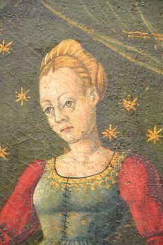 "DSC_0138 | MAESTRO DAGLI OCCHI SPALANCATI ""Visitazione, Nati… | Flickr Renaissance Costume, Italian Renaissance, Vintage Woman, Vintage Ladies, 15th Century, Italian Fashion, Woman Fashion, Medieval, Costumes"