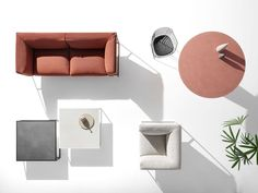 The Outdoor by MDF Italia: elegance and lightness Simple Sofa, Color Plan, Low Tables, Outdoor Living Areas, Outdoor Spaces, Sofa Furniture, Office Furniture, Furniture Design, Interiores Design