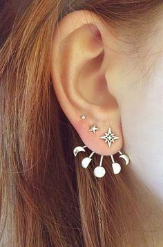 Moon phase earrings #moon #moonphases