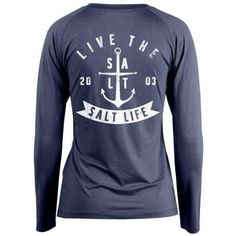 3a666e27d6ba8 Salt Life Women s Ventura SLX Long Sleeve Performance Shirt (Baltic Blue  Heather Small)