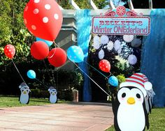 Winter Wonderland Penguin Party 1st Birthday Parties Birthdays Themed Ideas