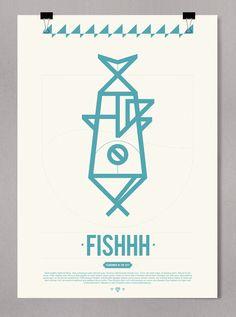 FISHHH    Visual Identity & Poster for restaurant  Helsinki / Finlad / 2011    http://albertocarballido.com/