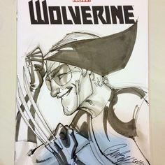Stan Lee / Wolverine by J. Scott Campbell