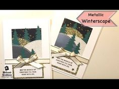 Metallic Winterscape - Stampin' Up! Christmas Carol, Stampin Up, Gift Wrapping, Joy, Metallic, Holiday, Cards, Catalog, Gift Wrapping Paper