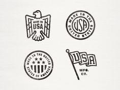 Made in the USA (Especially like the flag logo) by Alex Roka via Dribble