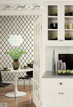 Trellis Wall In A Box – Easy to Hang: Decorate in a few hours. Ideal for Rente… – Home Decor Apartment Home Design Decor, House Design, Home Decor, Design Ideas, All White Background, Trellis Design, Home Board, Dining Nook, Love Wallpaper