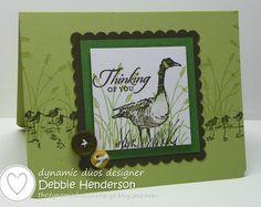 Dynamic Duos #63. Stampin' Up! Wetlands by Debbie Henderson, Debbie's Designs.